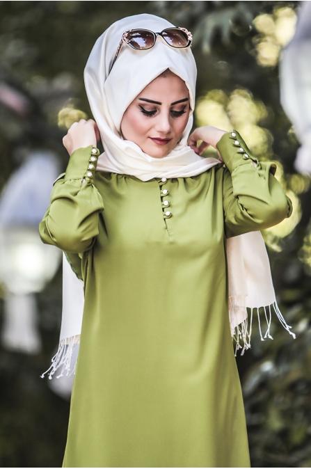 Ravza Elbise - Fıstık Yeşil