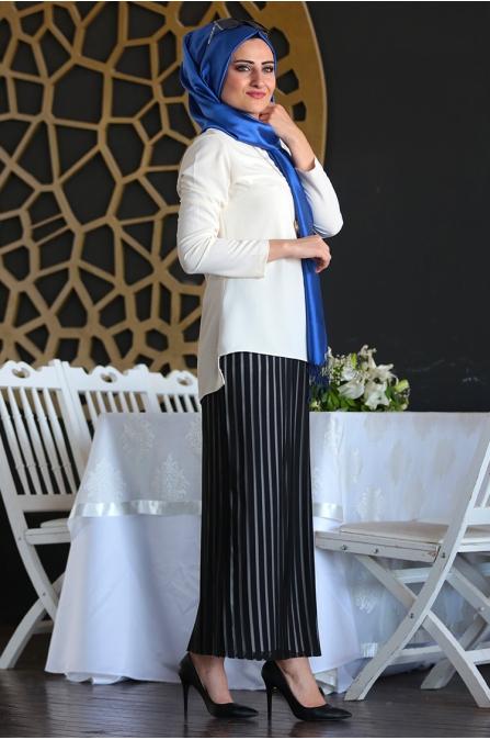 Suzana Kalem Etek - Siyah - Seda Tiryaki