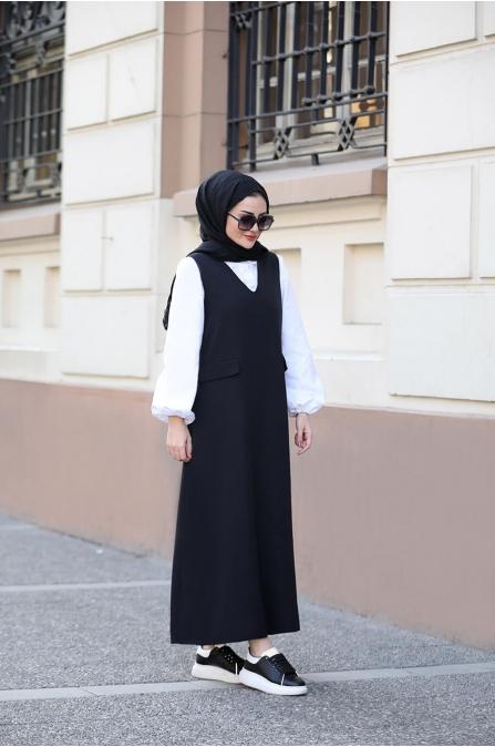 Jile Gömlek Takım - Siyah - Seda Tiryaki