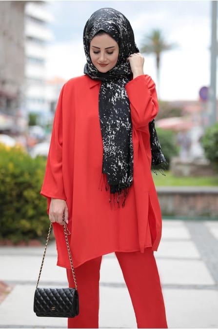 Şura Takım - Kırmızı - Seda Tiryaki