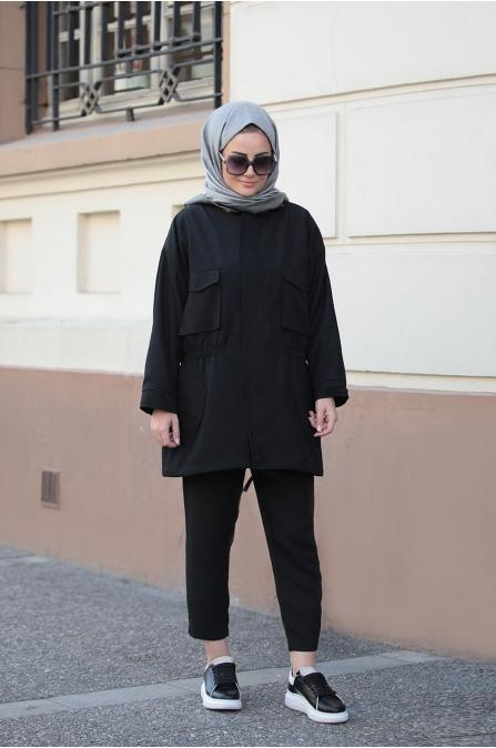 Hera Trenç - Siyah - Seda Tiryaki
