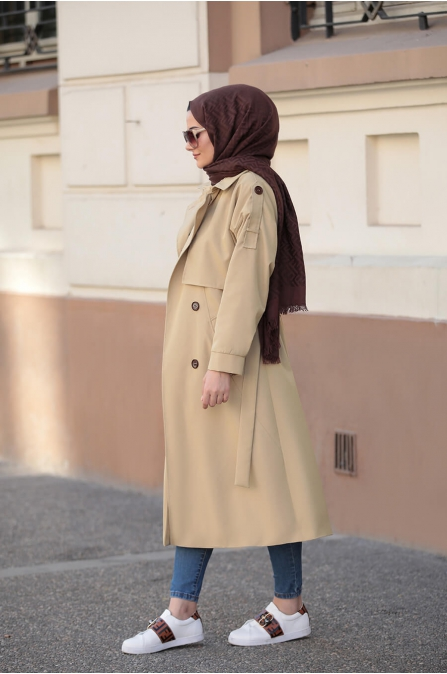 Lena Trençkot  - Camel - Seda Tiryaki