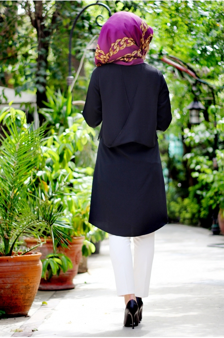 Beliz Tunik Siyah - Seda Tiryaki