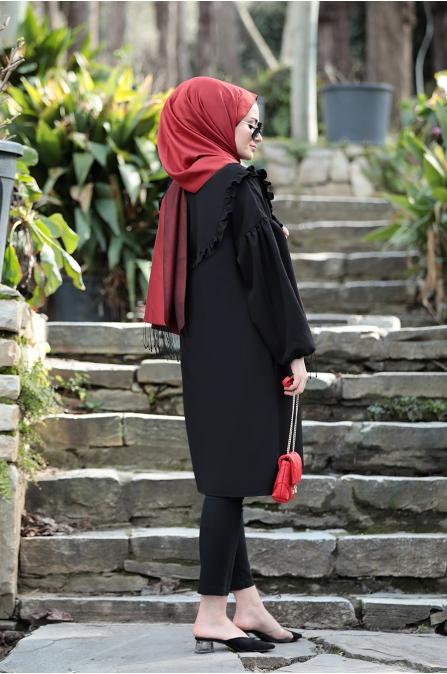 Vera Tunik - Siyah - Seda Tiryaki