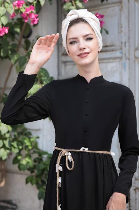Bahar Elbise - Siyah - Selma Sarı