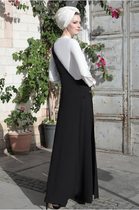 Pantolon Yelek Takım Siyah - Selma Sarı