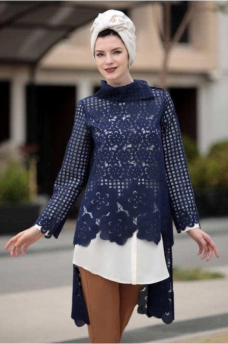 Favori ikili Tunik Takım Lacivert - Selma Sarı