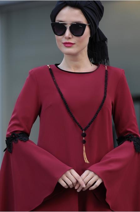 Selma Sarı - Prenses Tunik - Bordo