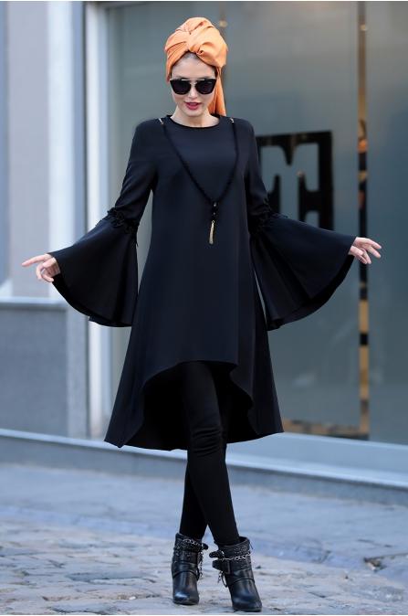 Selma Sarı - Prenses Tunik - Siyah