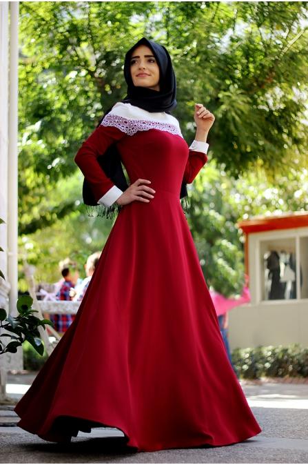 Begüm Elbise - Bordo
