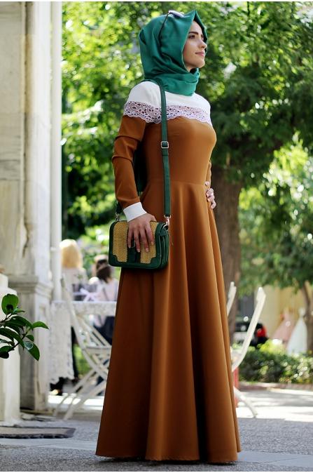 Begüm Elbise - Tarçın - Sema Şimşek