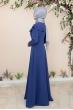 Bade Tesettür Elbise - İndigo