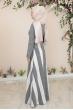 Ebru Kemerli Tesettür Elbise  - Antrasit