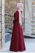 Firuze Tesettür Elbise  - Bordo
