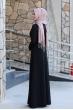 Firuze Tesettür Elbise  - Siyah