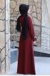 Naz Tesettür Elbise  - Bordo