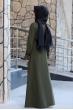 Naz Tesettür Elbise  - Haki