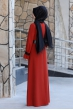 Naz Tesettür Elbise  - Kiremit