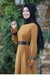 Naz Tesettür Elbise  - Taba
