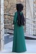 Naz Tesettür Elbise  - Zümrüt