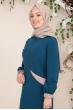 Alya Tunik Pantolon Tesettür Takım - Petrol