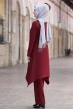 Büşra Tunik Pantolon Tesettür Takım - Bordo