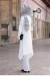 Büşra Tunik Pantolon Tesettür Takım - Ekru