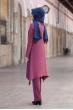 Büşra Tunik Pantolon Tesettür Takım - Gül Kurusu