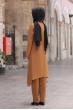 Büşra Tunik Pantolon Tesettür Takım - Taba