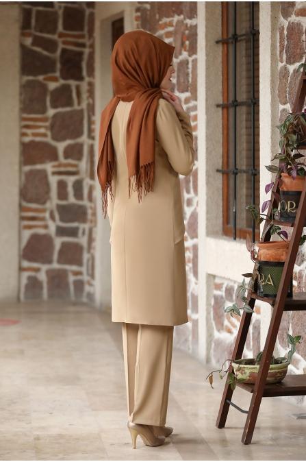 Eliz Tesettür Takım - Camel