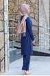 Merve Tunik Pantolon Tesettür Takım - İndigo