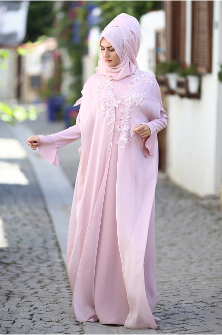 Som Fashion - Çırağan Abiye - Pudra