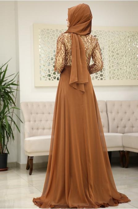 Som Fashion Hardal Hümaşah Tesettür Abiye