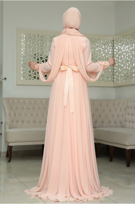 Nilüfer Abiye Somon Som Fashion