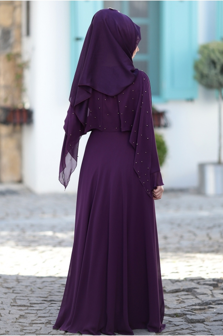 Som Fashion - Nur Abiye - Mor