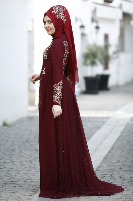 Som Fashion - Pırıl Abiye - Bordo