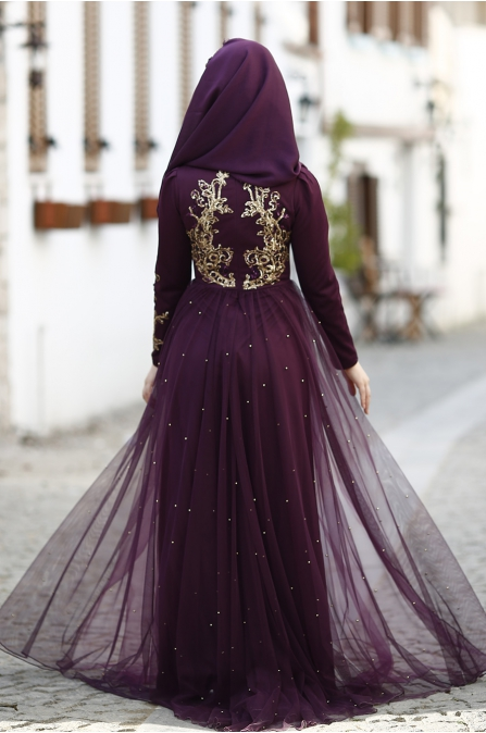Som Fashion - Pırıl Abiye - Mürdüm