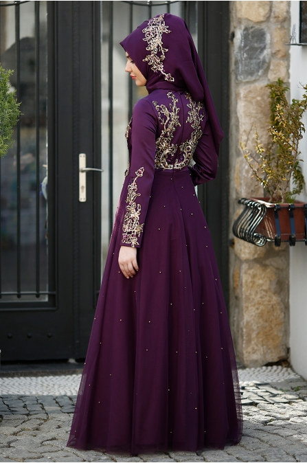 Som Fashion - Rana Abiye - Mürdüm