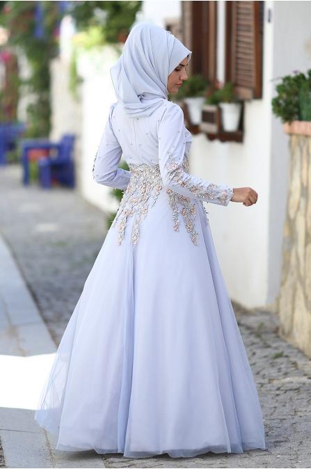 Som Fashion - Salkım Abiye - Mavi