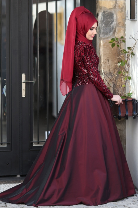 Som Fashion - Bordo - Esra Tafta Abiye