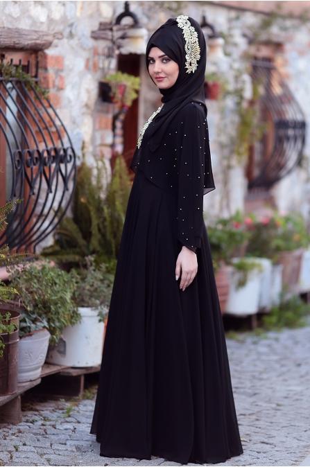 Som Fashion - Nur Abiye - Siyah
