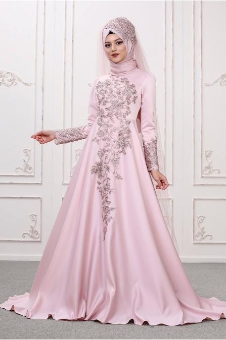 Lilyum Abiye - Pudra - Som Fashion