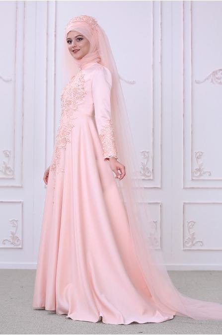 Lilyum Abiye - Somon - Som Fashion