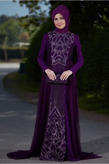 Pınar Abiye Mürdüm - Som Fashion