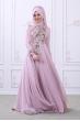 Safir Abiye - Pudra - Som Fashion