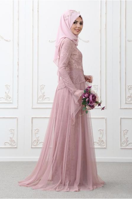 Süreyya Abiye Gül Kurusu - Som Fashion