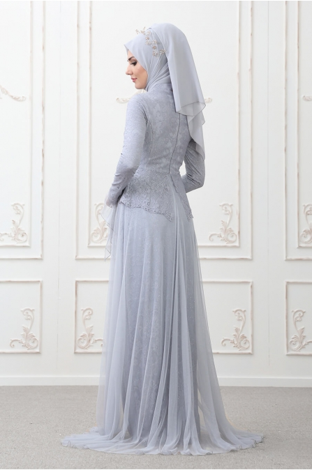 Süreyya Abiye Mavi - Som Fashion