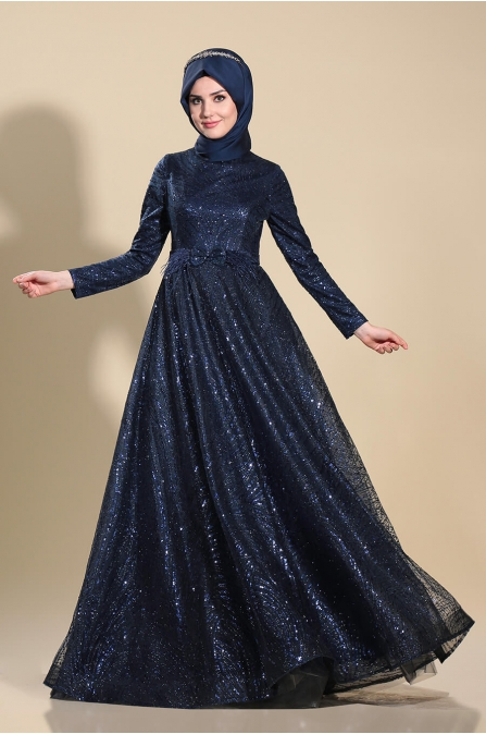 Ela Abiye - Lacivert - Som Fashion