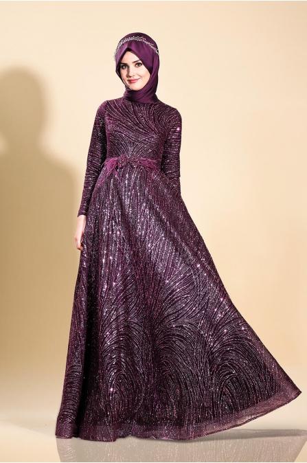 Ela Abiye - Mürdüm - Som Fashion