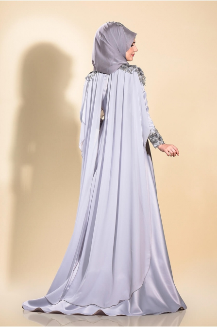 Firuze Abiye - Gri - Som Fashion